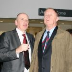 Principal Norman Caves & Chris Tarrant - caught unawares, sorry!