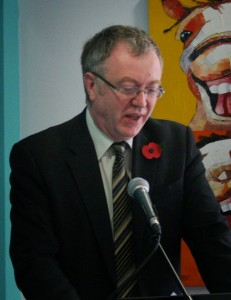 Richard Burden MP speaks at the opening event