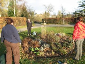 Planning flower beds. Image by Lynn Horsnett, FOKNP