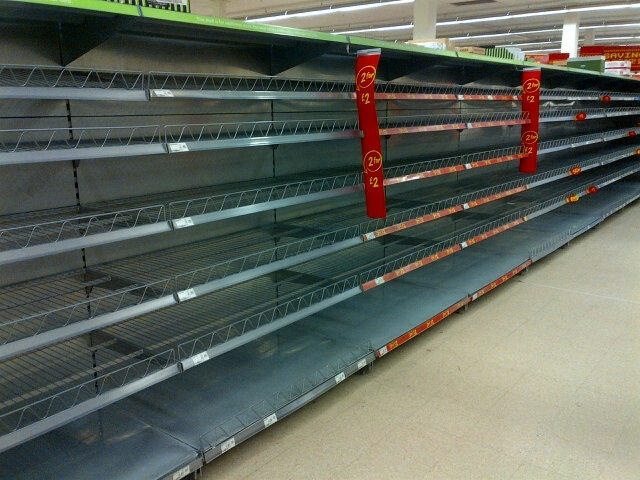 Panic Buying Clears Supermarket Shelves B31 Voices