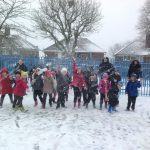 Staff & Pupils at Jervoise School enjoying the snow @jervoisescchool