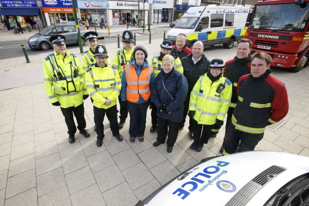 Partners from BCC & emergency services at Northfield 'All Out Day'