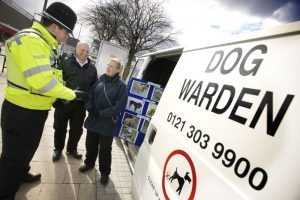 Dog wardens at Northfield All Out Day