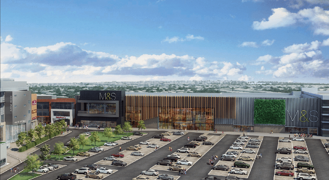 Artist's impression of the proposed Marks & Spencer superstore