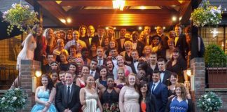 Students and staff celebrate at the ARK Kings Academy Leavers Prom 2014
