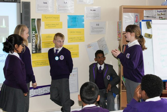 Year 6 pupils from ARK Rose Primary Academy perform a play to tell the story of Diwali