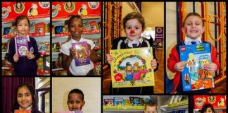 Collage of images of winners of the ARK Rose Primary Academy World Book Day poetry competition