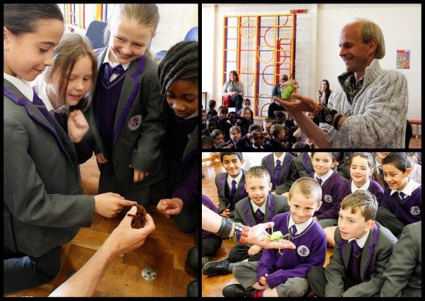 Pupils from ARK Rose Primary Academy in Kings Norton learn and get to see close uo living creatures from the rainforest