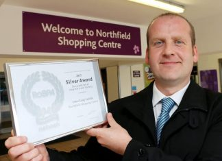 Northfield's Operations Manager Adam Meade with his RoSPA Silver Award