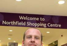 Adam Meade, the new manager of Northfield Shopping Centre