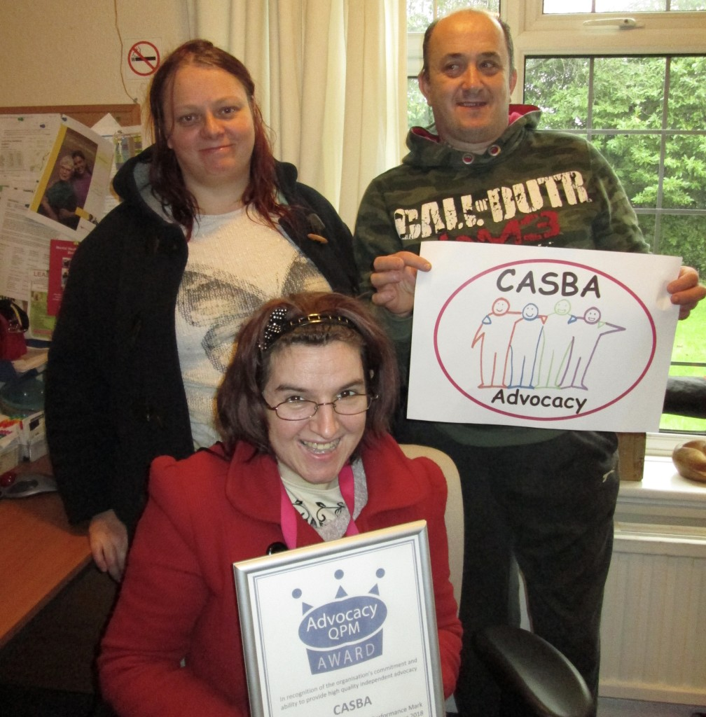 Proud CASBA services users: involved in achieving the award