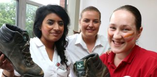 Pictured, from left, are Suki Gill, Laura Manns and Natalie Greening