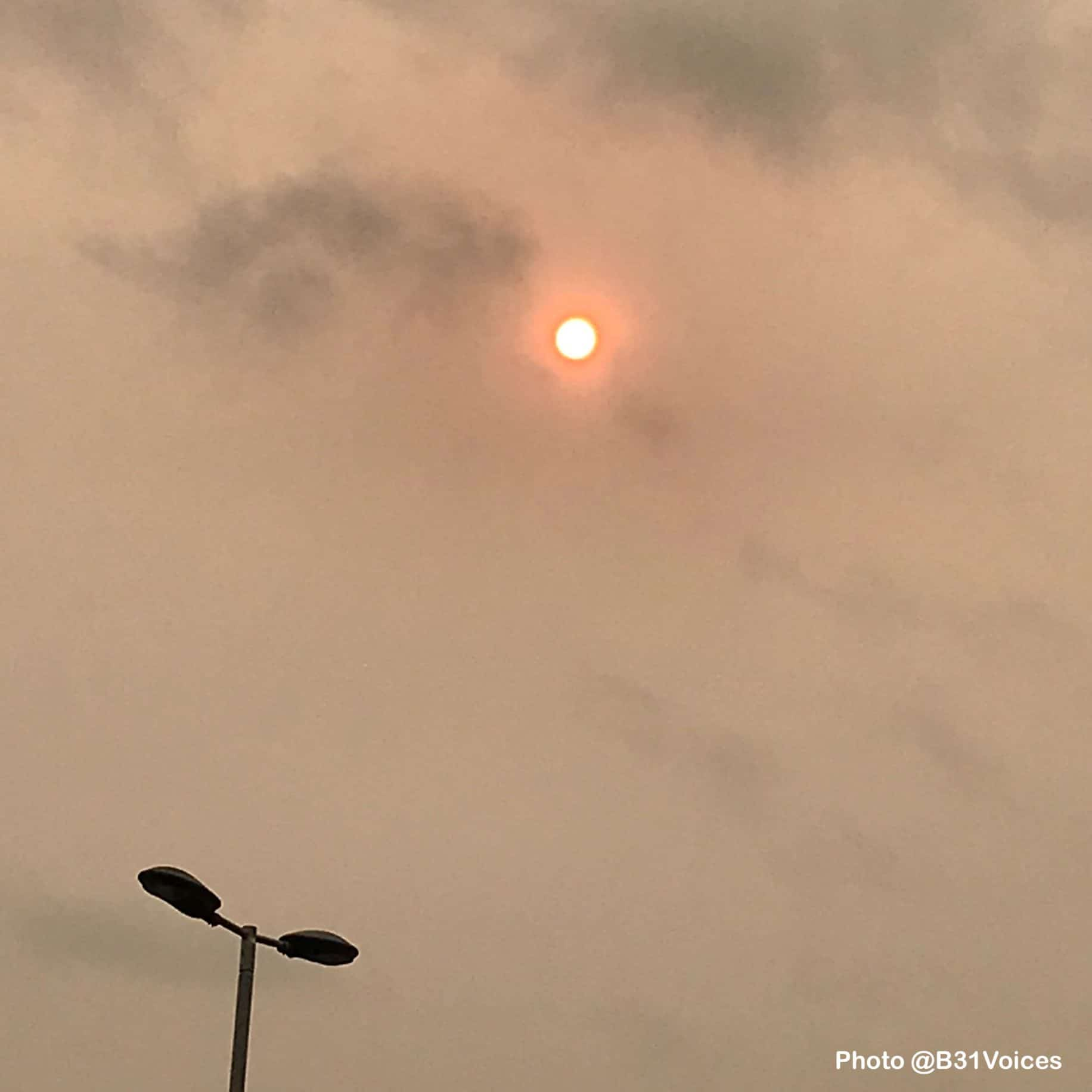 Storm Ophelia turns sun red over parts of England