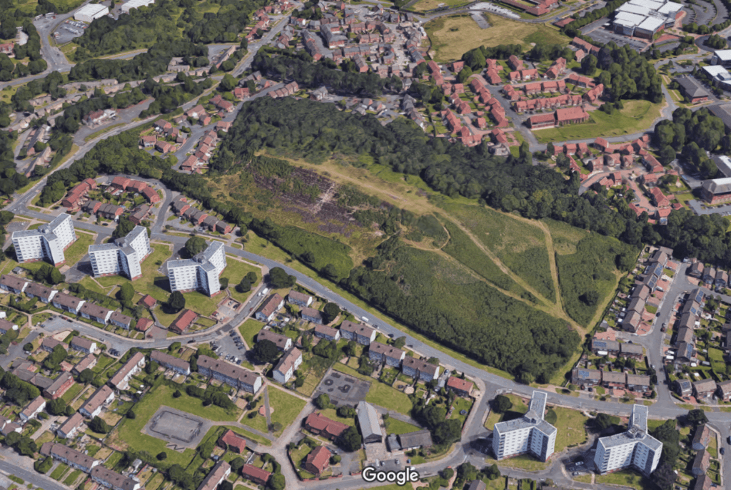 3D image satellite image of Rubery Cock Hill Quarry | © Google Maps