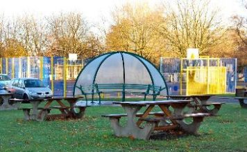 The playground at Selly Oak Trust School